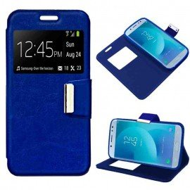 Funda Libro Samsung J7 2017 Azul