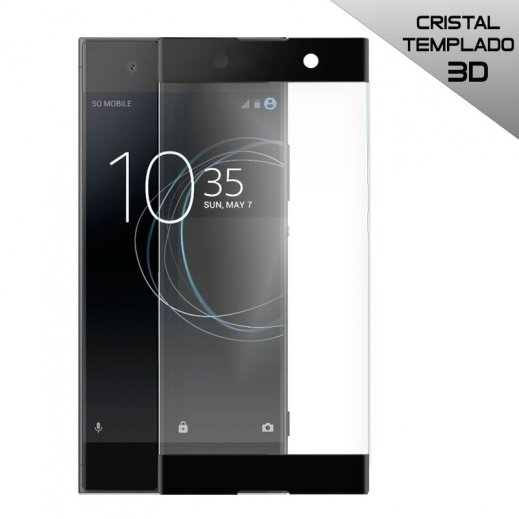 Protector Cristal Templado Sony Xperia Xa1 3d Negro - Foto 1