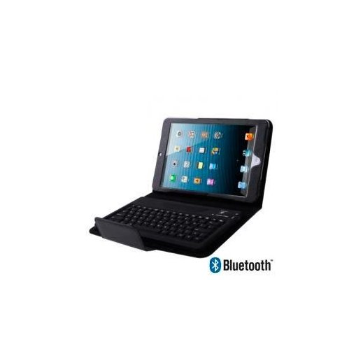 Funda Ipad Mini Piel Negro Teclado Bluetooth - Foto 1
