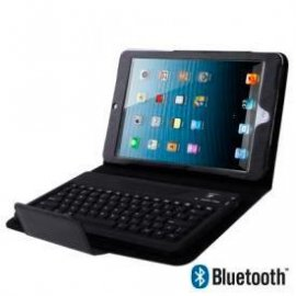 Funda Ipad Mini Piel Negro Teclado Bluetooth