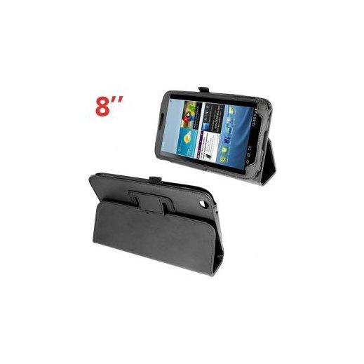 """Funda Tablet Samsung Galaxy Tab 3 T3100 Polipiel Negra 8"""" - Foto 1"""