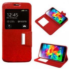 Funda Libro Samsung Galaxy S5 Rojo