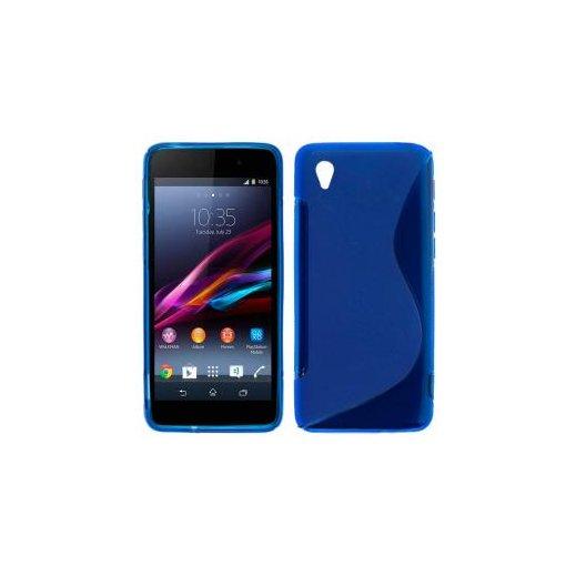 Funda Silicona Sony Xperia Z1 Azul - Foto 1