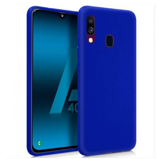 Funda Silicona Samsung A40 Azul - Foto 1