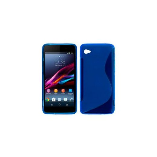 Funda Silicona Sony Xperia Z1 Compact Azul - Foto 1