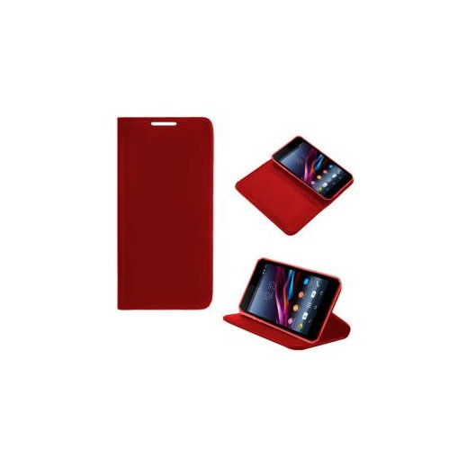 Funda Libro Sony Xperia Z1 Compact Rojo Flzmini - Foto 1