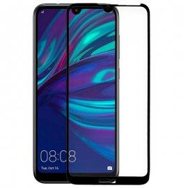 Protector Cristal Templado Huawei Y7 2019 Negro