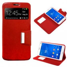 Funda Libro Sony Xperia Z3 Compact Roja