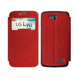 Funda Libro Lg L90 Rojo