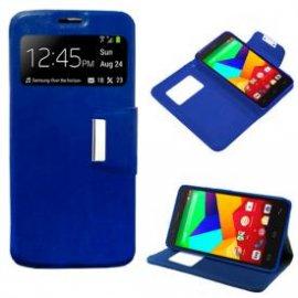 Funda Flip Cover Bq Aquaris E5 4g Azul