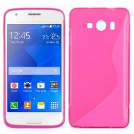 Funda Silicona Samsung Galaxy Ace 4 Rosa