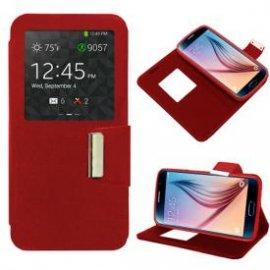 Funda Libro Samsung Galaxy S6 Rojo