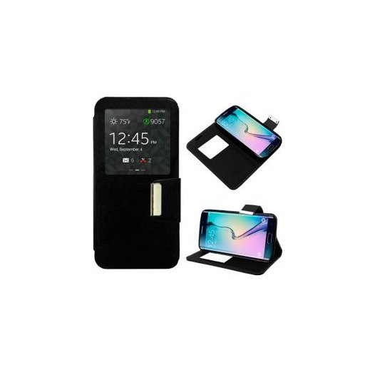 Funda Libro Samsung Galaxy S6 Edge Negro - Foto 1