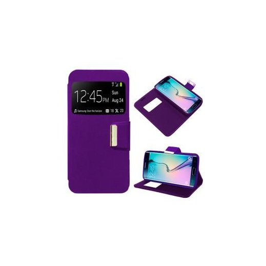 Funda Libro Samsung Galaxy S6 Edge Violeta - Foto 1