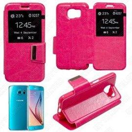 Funda Libro Samsung Galaxy S6 Rosa