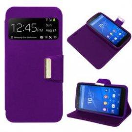 Funda Libro Sony Xperia E4 Violeta