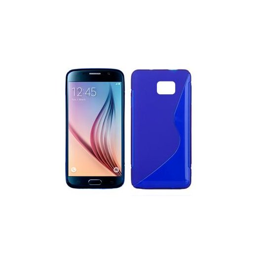 Funda Silicona Samsung Galaxy S6 Azul - Foto 1