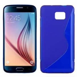 Funda Silicona Samsung Galaxy S6 Azul