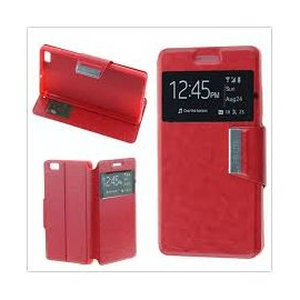 Funda Libro Huawei P8 Roja