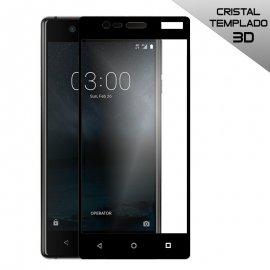 Protector Cristal Templado Nokia 3 3d Negro