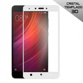 Protector Cristal Xiaomi Redmi 4x 3d Blanco / Nego