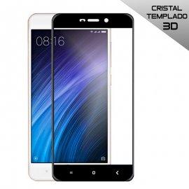 Protector Cristal Templado Xiaomi Redmi 4a 3d Negro