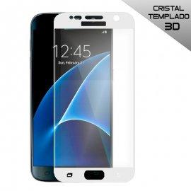 Protector de Cristal Templado Curvo Samsung Galaxy S7 Blanco