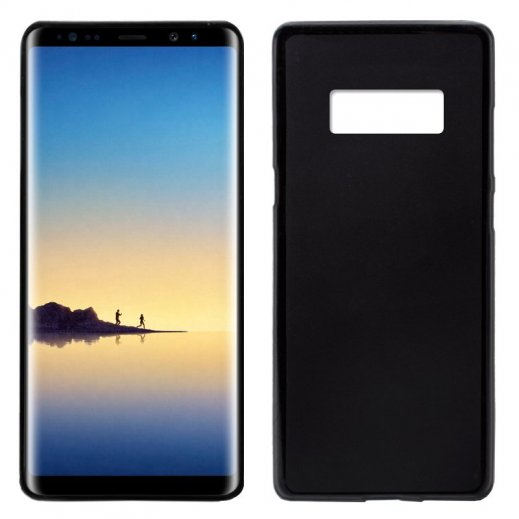 Funda Silicona Samsung Galaxy Note 8 Negra - Foto 1