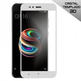 Protector Cristal Templado 3d Xiaomi Mi A1 Mi 5x Blanco