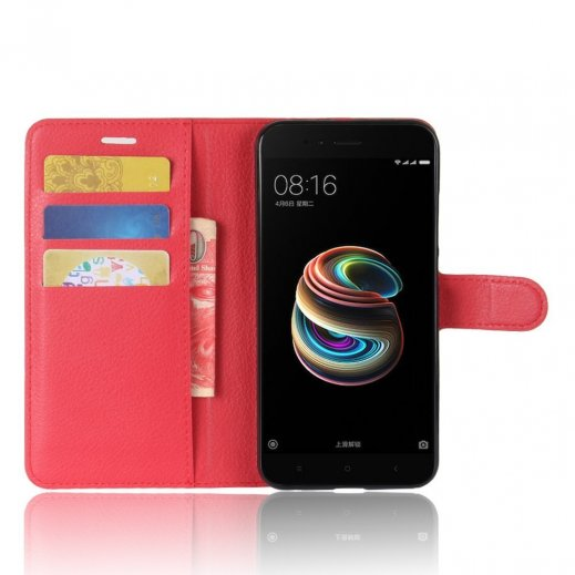 Funda Libro Xiaomi Mi A1 Mi 5x Roja - Foto 1