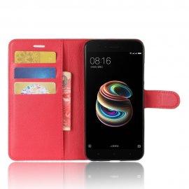 Funda Libro Xiaomi Mi A1 Mi 5x Roja