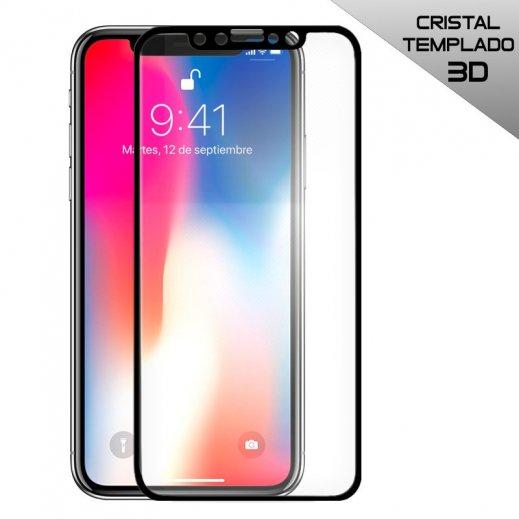 Protector de Cristal Templado 3d Negro Iphone X - Foto 1