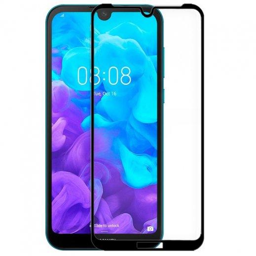 Protector Cristal Templado Full 3d Negro Huawei Y5 2019 - Foto 1