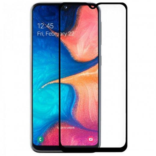 Protector Cristal Templado Samsung A10 Negro - Foto 1