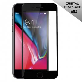 Protector Cristal Templado Iphone 7 Plus 8 Plus 3d Negro