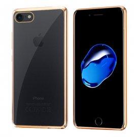 Funda Silicona Transparente con Ribete de Colores Iphone 7/8 Plus