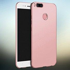 Funda Silicona Xiaomi Mi A1 Transparente con Filo Rosa