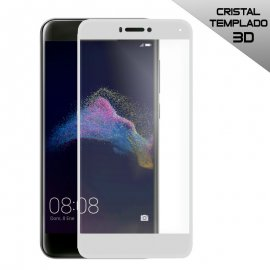 Protector Cristal Templado Huawei P8 Lite 2017 Blanco/negro 3d