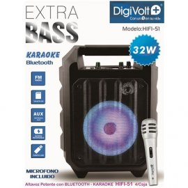 Altavoz Digivolt Bluetooth con Karaoke Hifi -51 32w