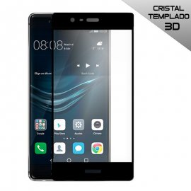 Protector Cristal Templado Huawei P9 Lite 3d Negro