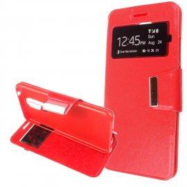 Funda Libro Huawei Y7 Roja