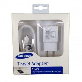 Cargador Original Samsung con Cable Micro Usb Blanco