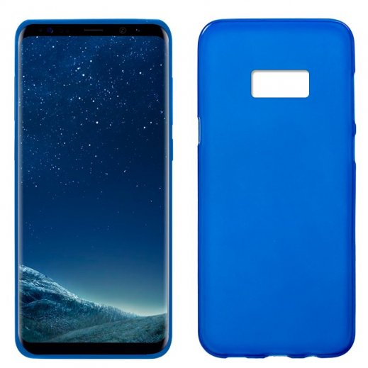 Funda Silicona Samsung S8 Azul - Foto 1