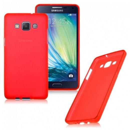 Funda Silicona Samsung A8 Roja - Foto 1