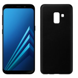 Funda Silicona Samsung A8 2018 Negra