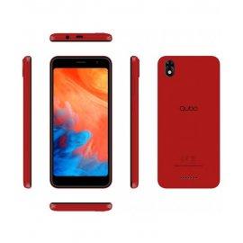 Telefono Qubo Eos Rojo + Funda