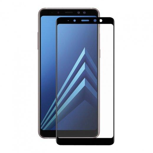 Protector Cristal Templado 3d Samsung Galaxy A8 2017 / A6 2018 Negro - Foto 1