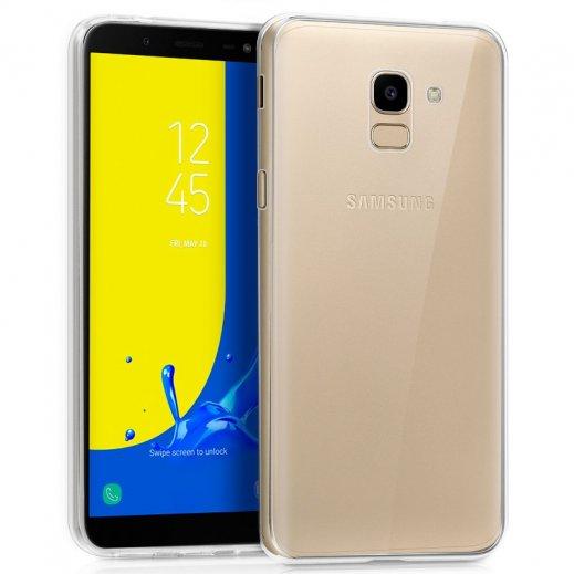 Funda Silicona Samsung J600 Galaxy J6 Transparente - Foto 1