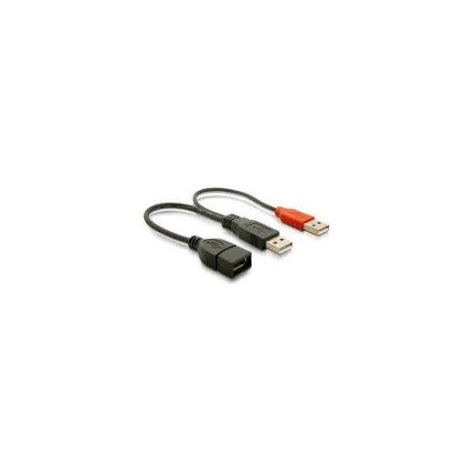 Cable Usb Nano Cable 2.0+alim. Tipo A/m+a Alim./m-a/h 15cm - Foto 1