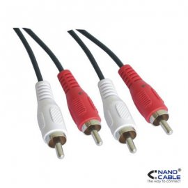 Cable Rca Extension Nano Cable, 2xrca/h 3.0m